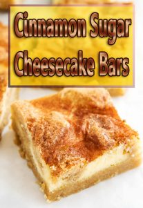 Cinnamon Sugar Cheesecake Bars Video Recipe