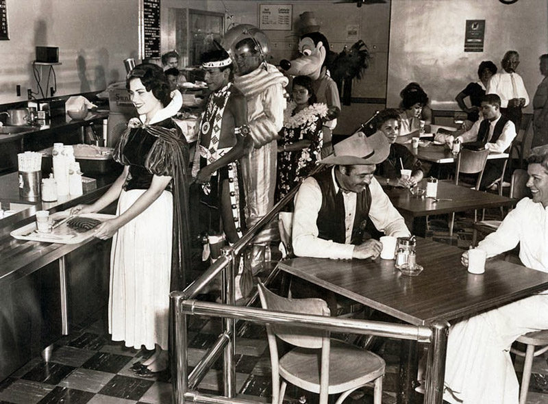 A Photo of the Disneyland Staff Cafeteria in 1961