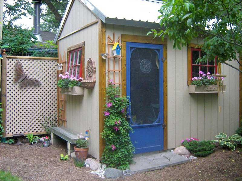 Garden sheds ideas and photos quiet corner for Corner garden shed designs