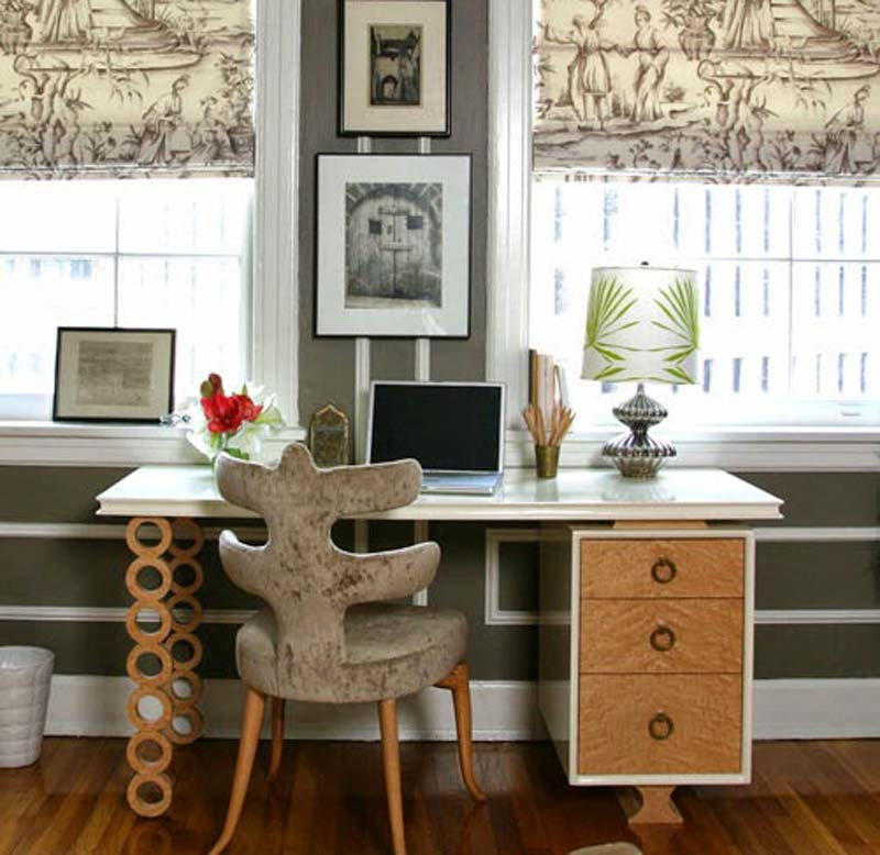 Ideas for home office quiet corner Corner home office design ideas