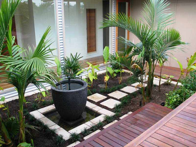 Small garden design ideas quiet corner - Small space garden design property ...