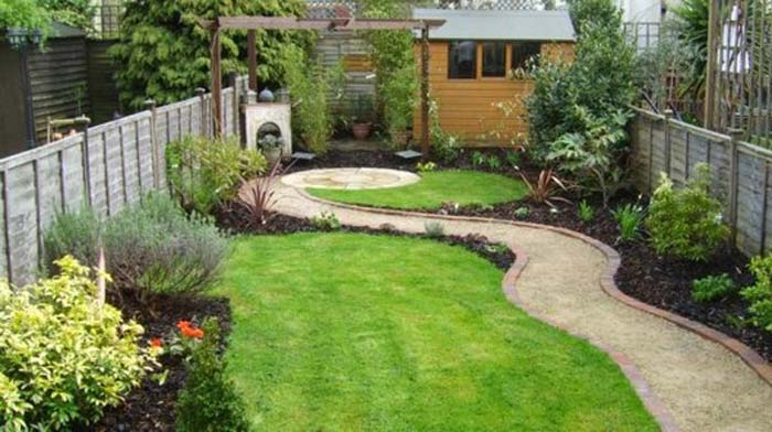Quiet corner small garden design ideas quiet corner for Small narrow garden designs