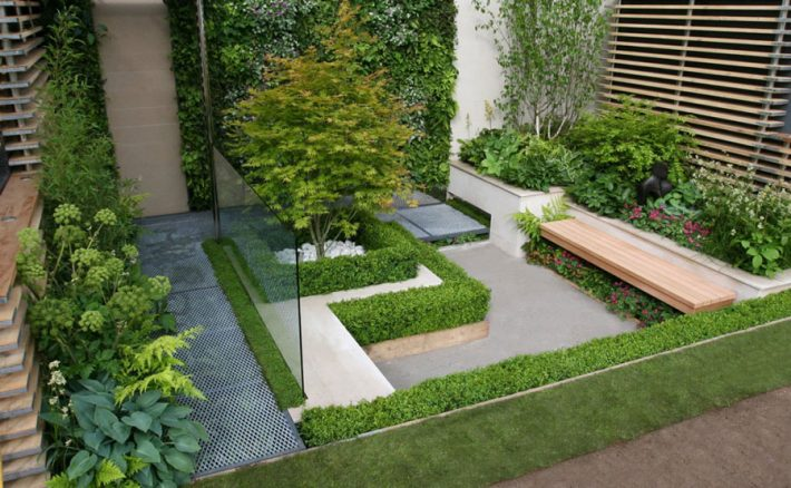 Small garden ideas quiet corner for Amenagement jardin 100m2