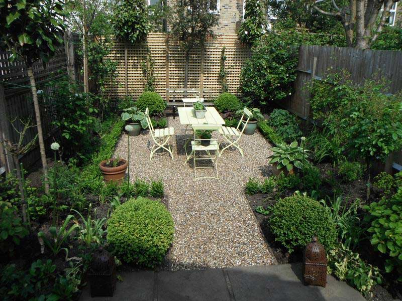 Urban garden ideas for Small corner garden designs