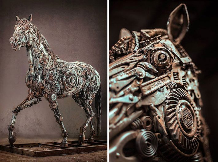 Steampunk-Animal-Sculptures-Made-Of-Scrap-Metal-By-Hasan-Novrozi--2