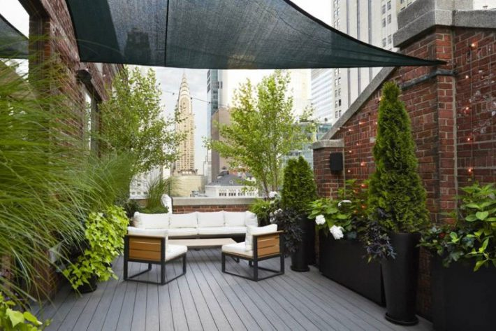 Terrace roof garden quiet corner for Terrace garden ideas