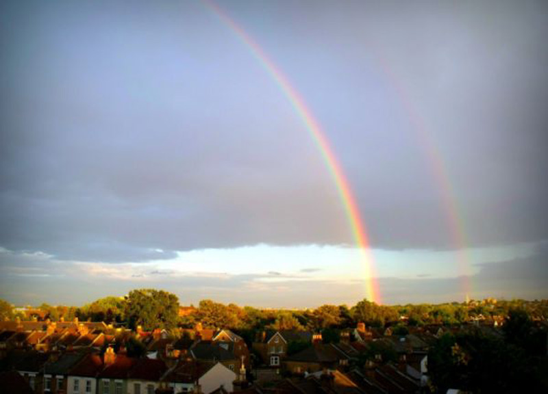 extraordinary natural phenomena -dual rainbow