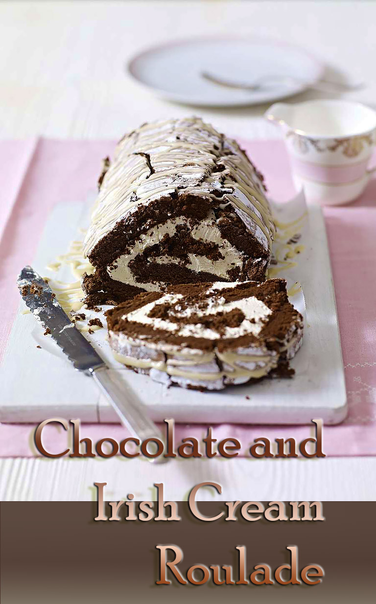 Chocolate and Irish Cream Roulade - Video Recipe