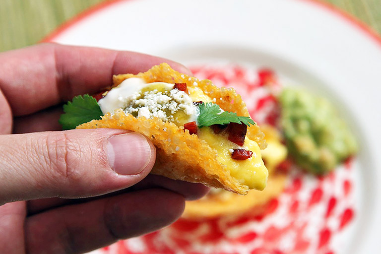 Cheese Shell Mini Tacos