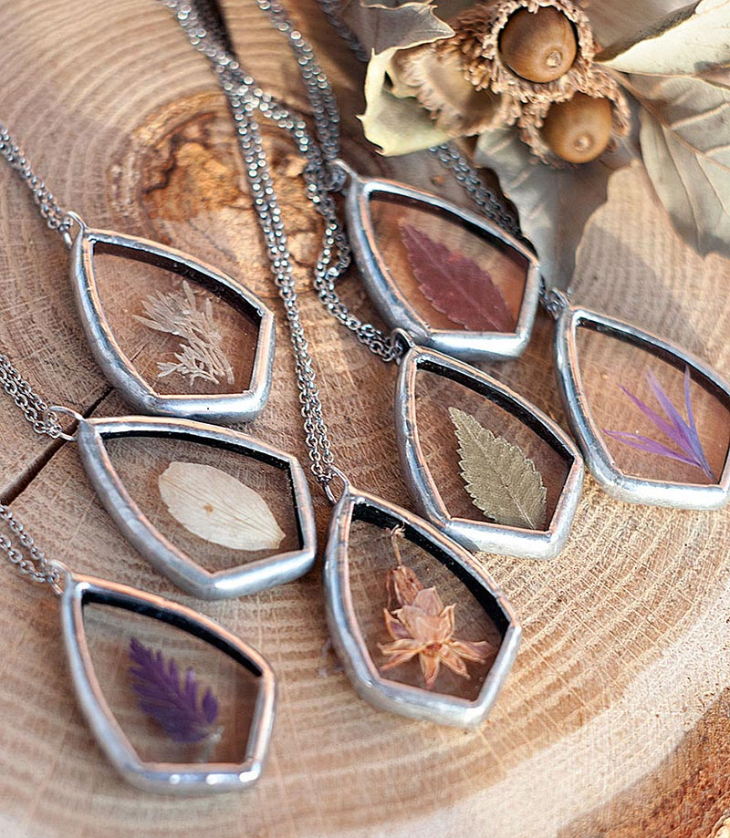Artist Preserves The Beauty Of Nature In Pressed Glass Pendants