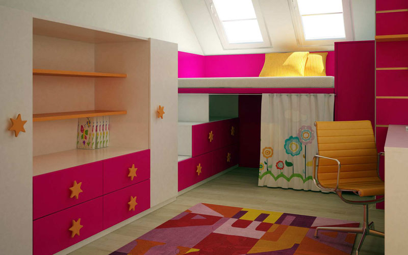 Colorful kids room designs quiet corner for Bedroom ideas for girls in their 20s