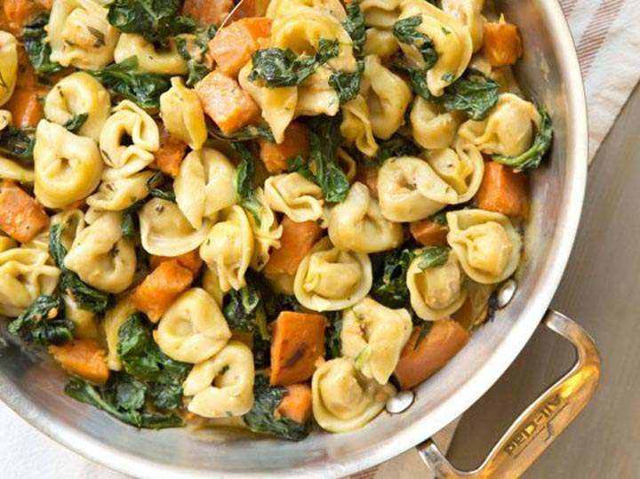 Creamy Tortellini with Sweet Potato and Spinach