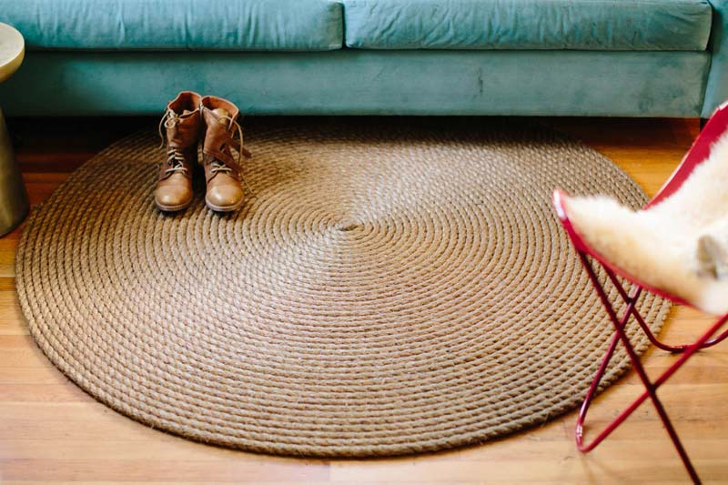 Diy Rope Rug Creative Ideas Quiet Corner