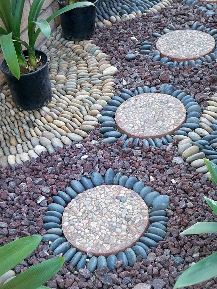 garden pathway pebble mosaic ideas quiet corner