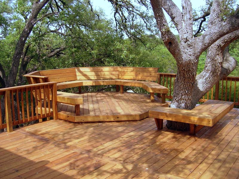 Great deck design ideas quiet corner for Garden design decking areas
