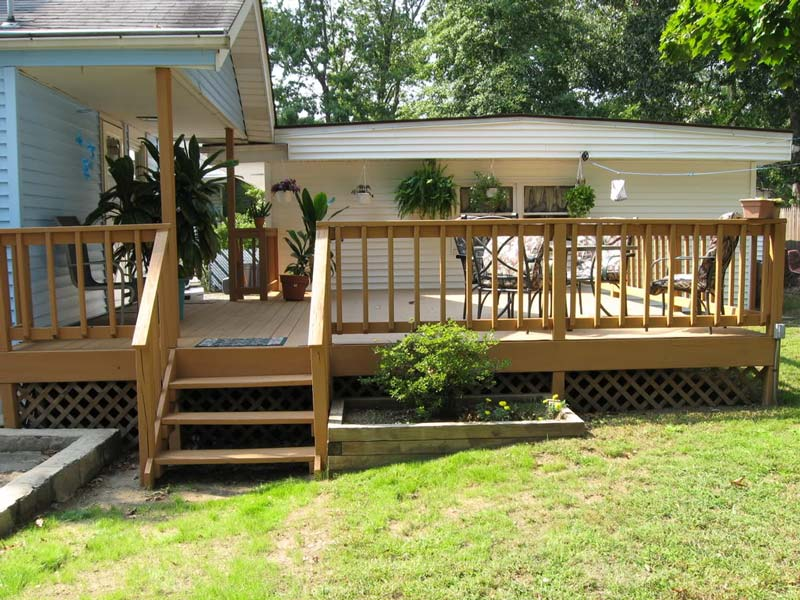 Great deck design ideas quiet corner for Exterior deck design