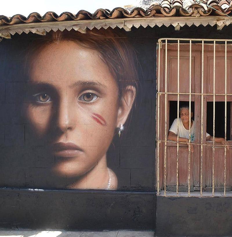 Hyperrealistic Street Art Portraits by Jorit AGOch (11)