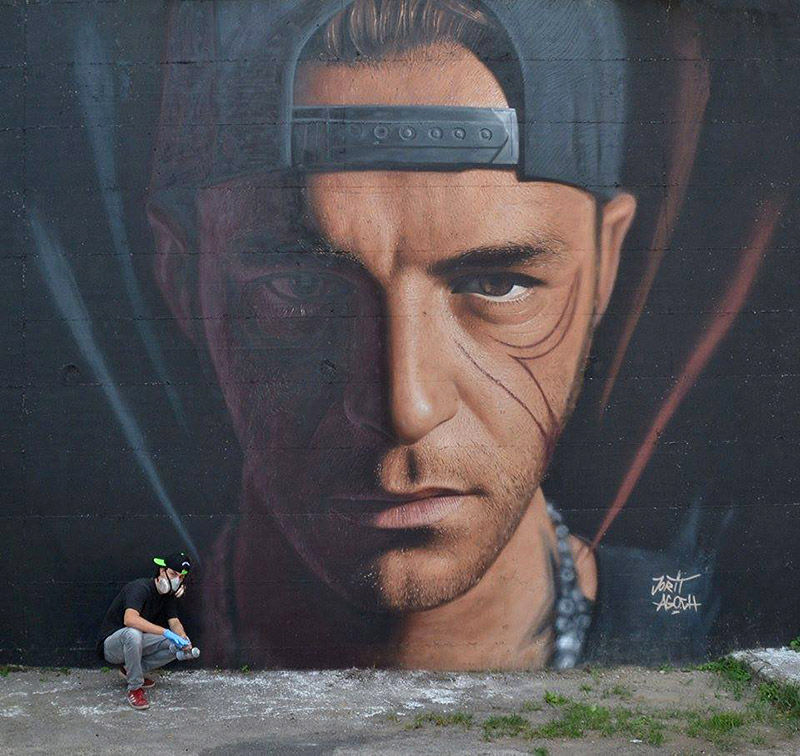 Hyperrealistic Street Art Portraits by Jorit AGOch (6)