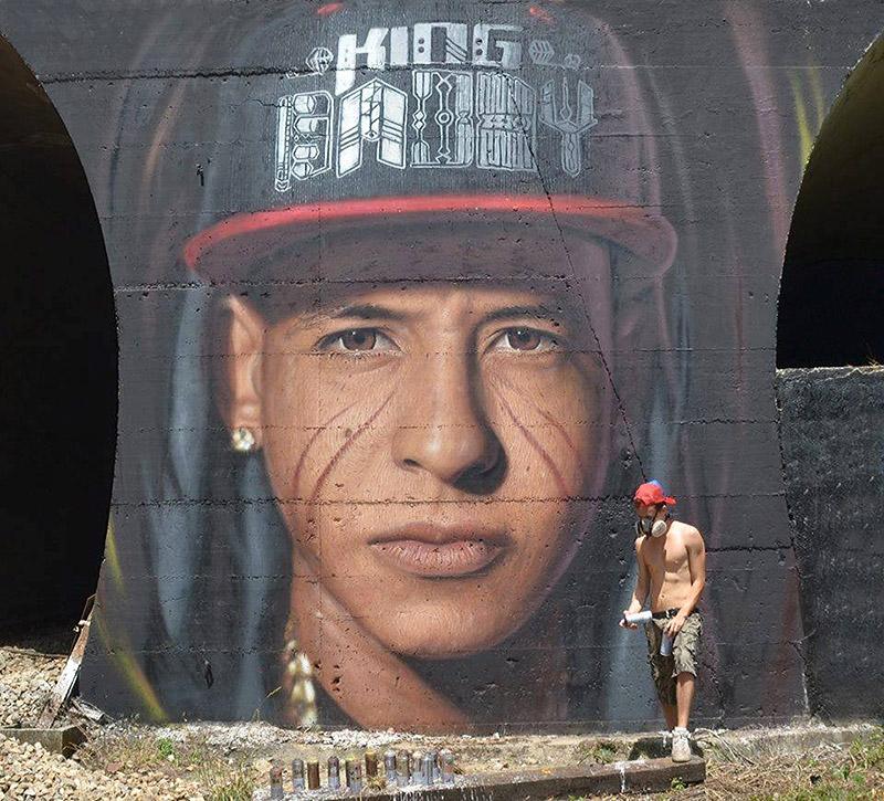 Hyperrealistic Street Art Portraits by Jorit AGOch (8)