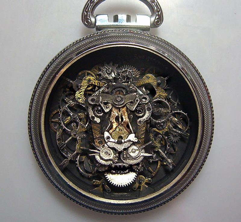 Old Watch Parts Recycled Into Steampunk Sculptures (11)