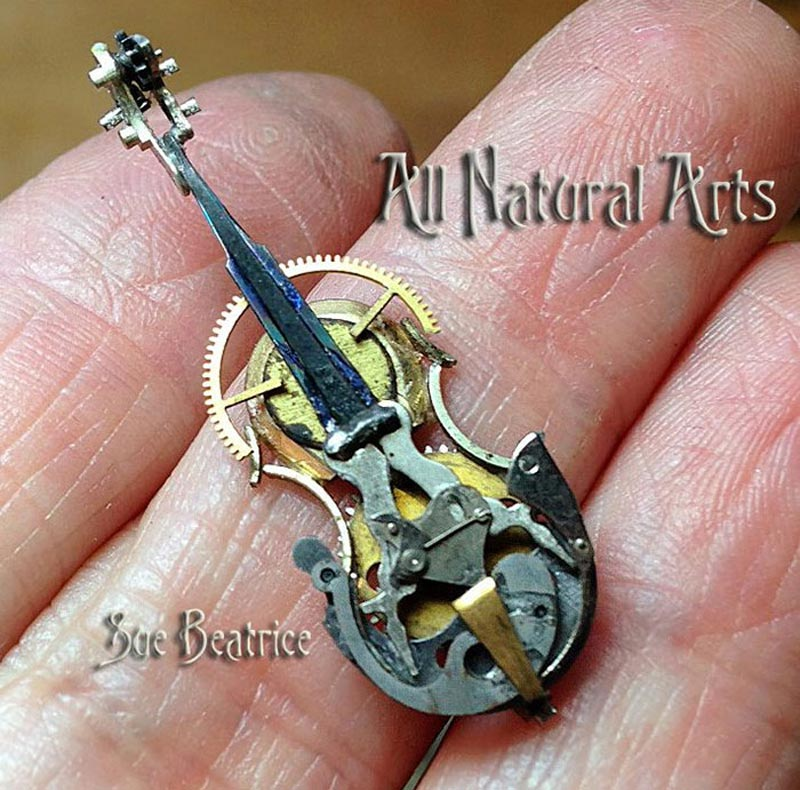 Old Watch Parts Recycled Into Steampunk Sculptures (12)