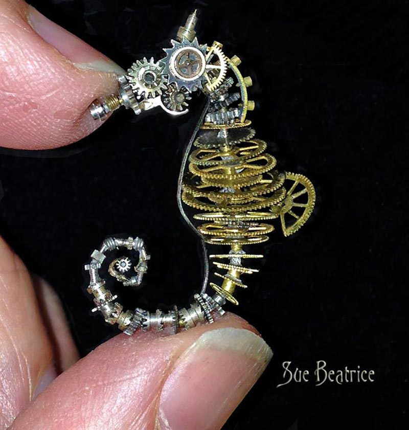 Old Watch Parts Recycled Into Steampunk Sculptures (8)