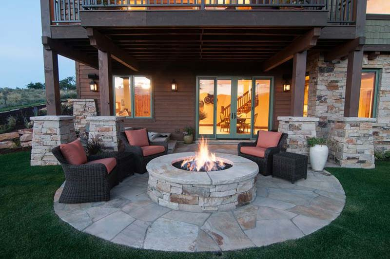 Fire Pit And Seating Part - 39: ... Outdoor Fire Pit Seating Ideas (10) ...