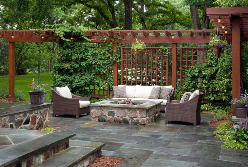 Outdoor Fire Pit Seating Ideas - Quiet Corner on Back Garden Seating Area Ideas id=39369