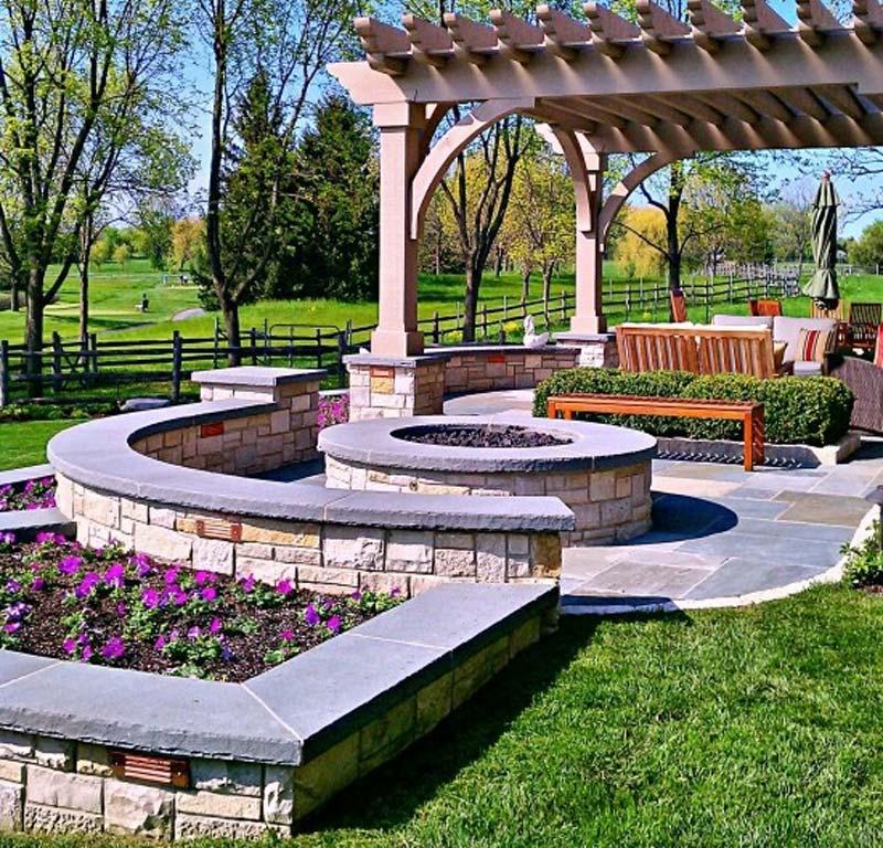 Quiet Corner:Outdoor Fire Pit Seating Ideas - Quiet Corner on Backyard Seating Area Designs id=33997