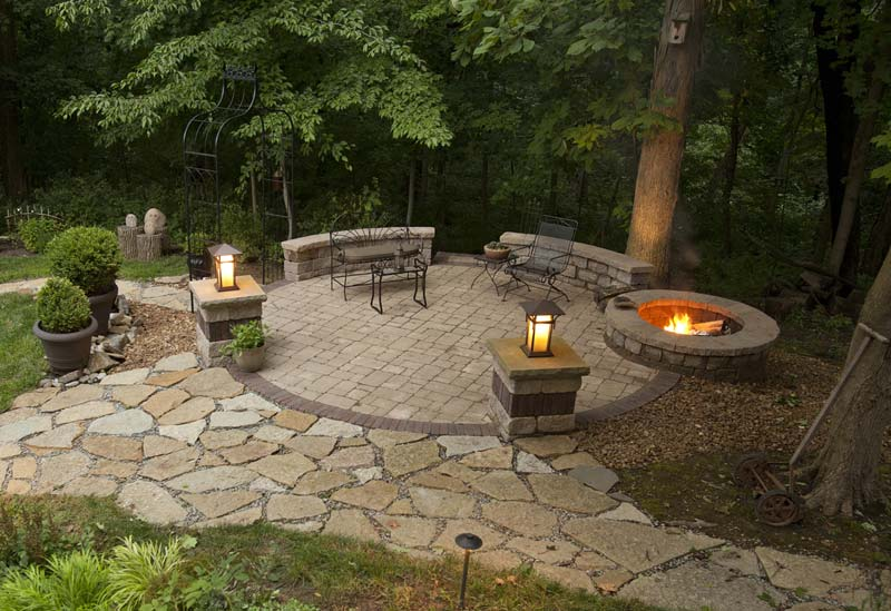 outdoor fire pit seating design ideas