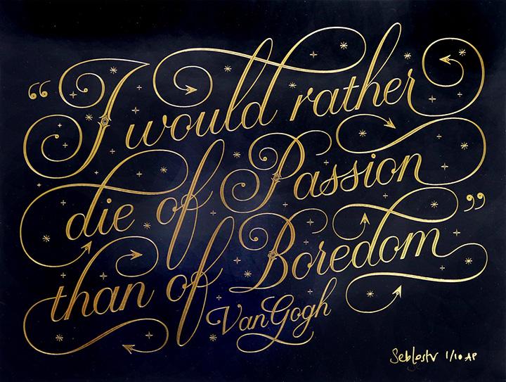 Master Calligrapher Seb Lester