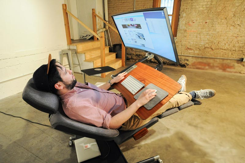 This Desk Will Let You Work Lying Down