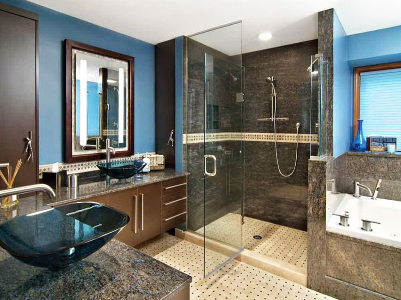 then perhaps you might enjoy an updated modern master bathroom