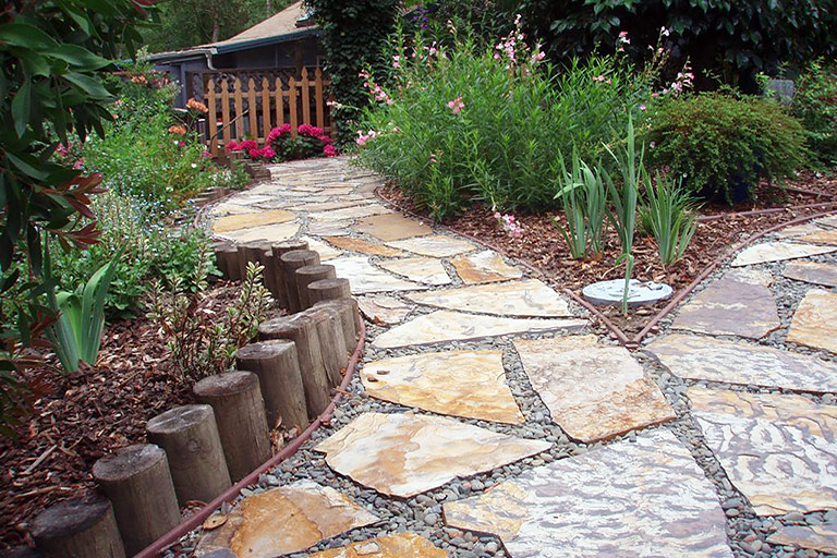 DIY - Easy Stone Path for Your Garden 2