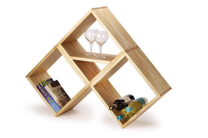 Easy DIY Bookshelf & Wine Rack