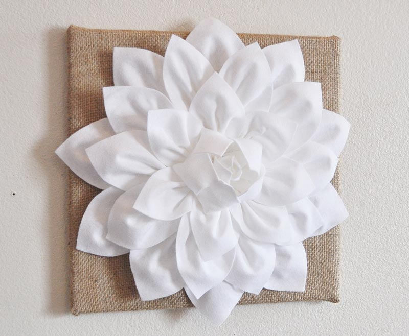 Felt Flowers Wall Decor : D felt flower wall art diy tutorial quiet corner