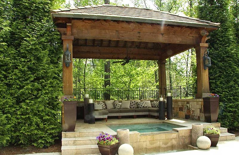 43 wicked gazebo design ideas for Landscape decor
