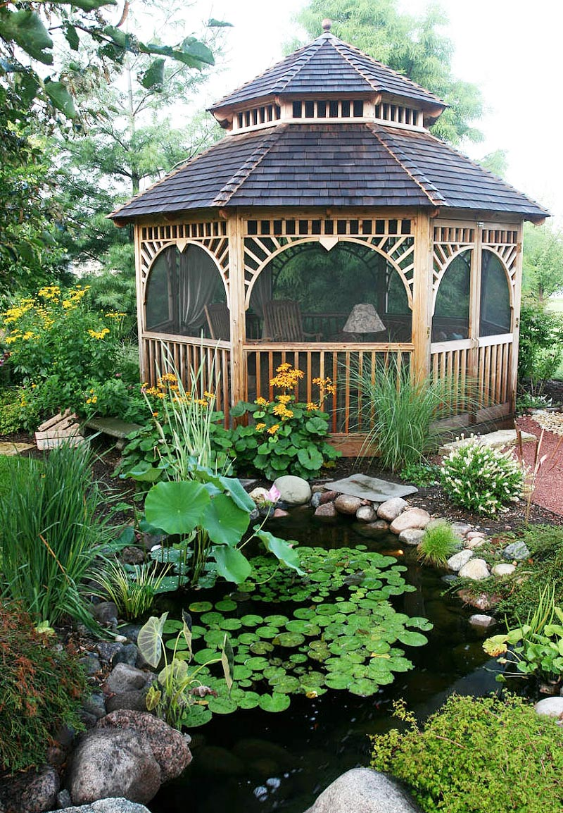 Backyard Gazebo Ideas - Quiet Corner