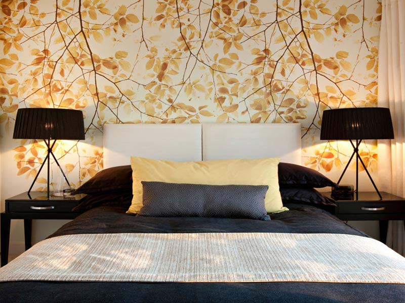 Beautiful wallpaper designs for bedroom quiet corner - Papier peint pour chambre a coucher ...
