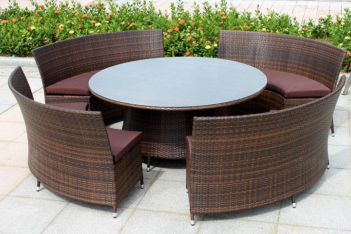 Beauty of wicker outdoor furniture quiet corner - The reason behind the growing popularity of the contemporary sofa ...