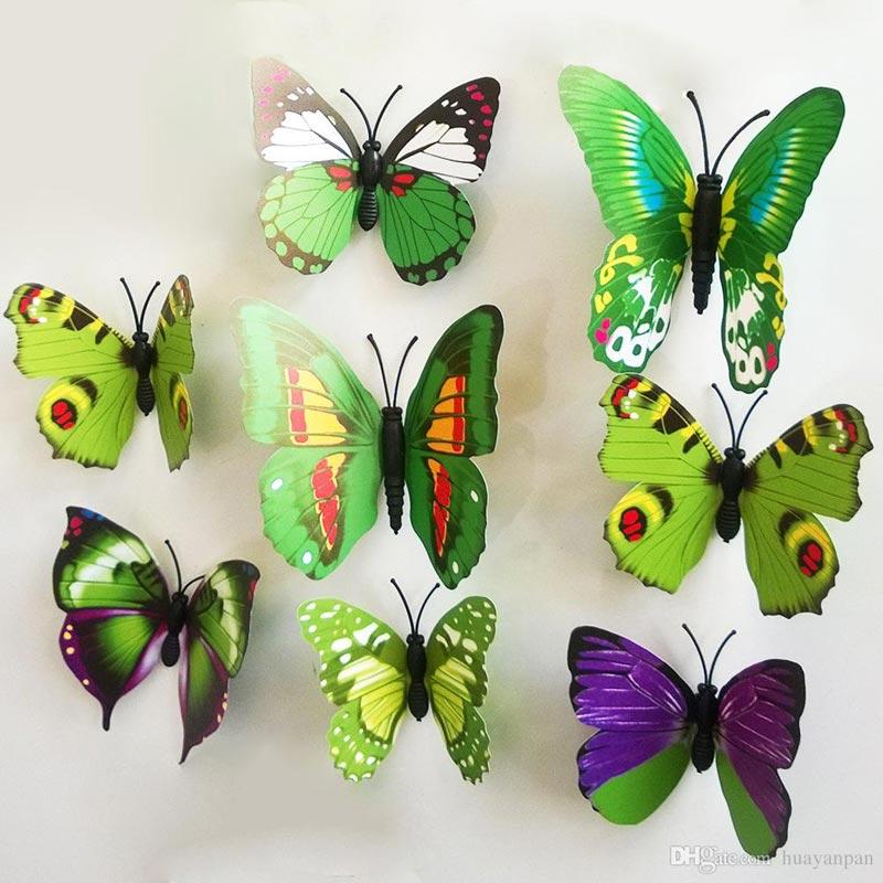 Butterfly Pattern Wall Decor (6)