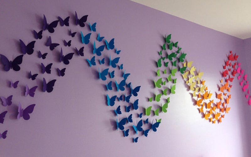 Hanging Butterfly Wall Decor : Butterfly pattern wall decor quiet corner