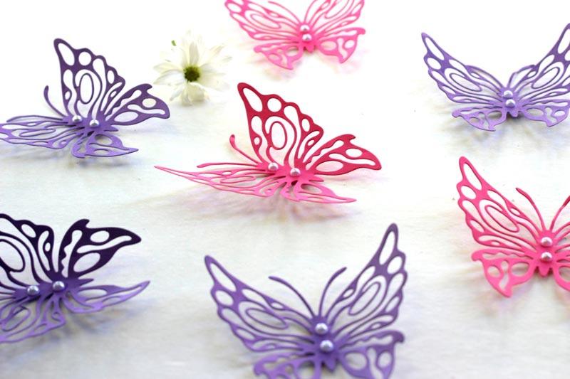 butterfly pattern wall decor s 2