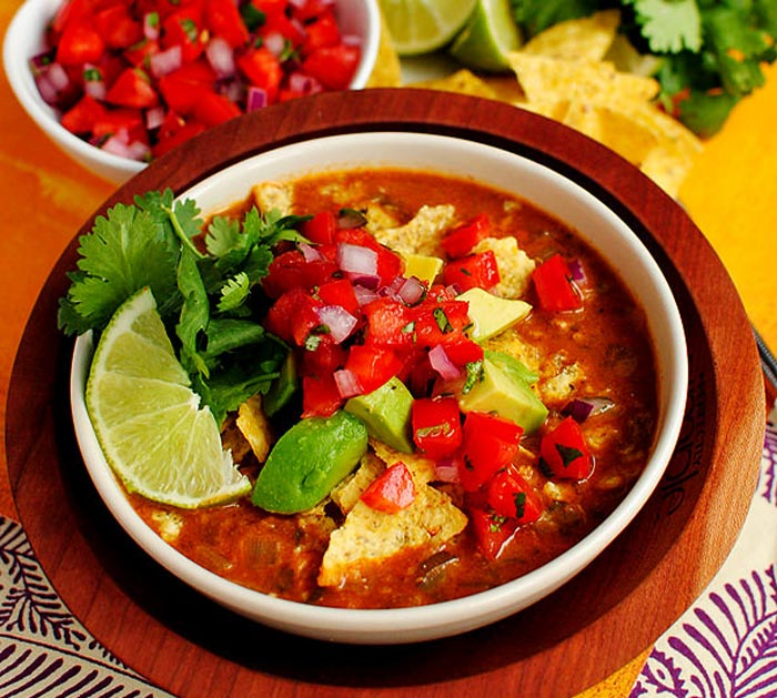Chicken Tortilla Soup Restaurant-Style