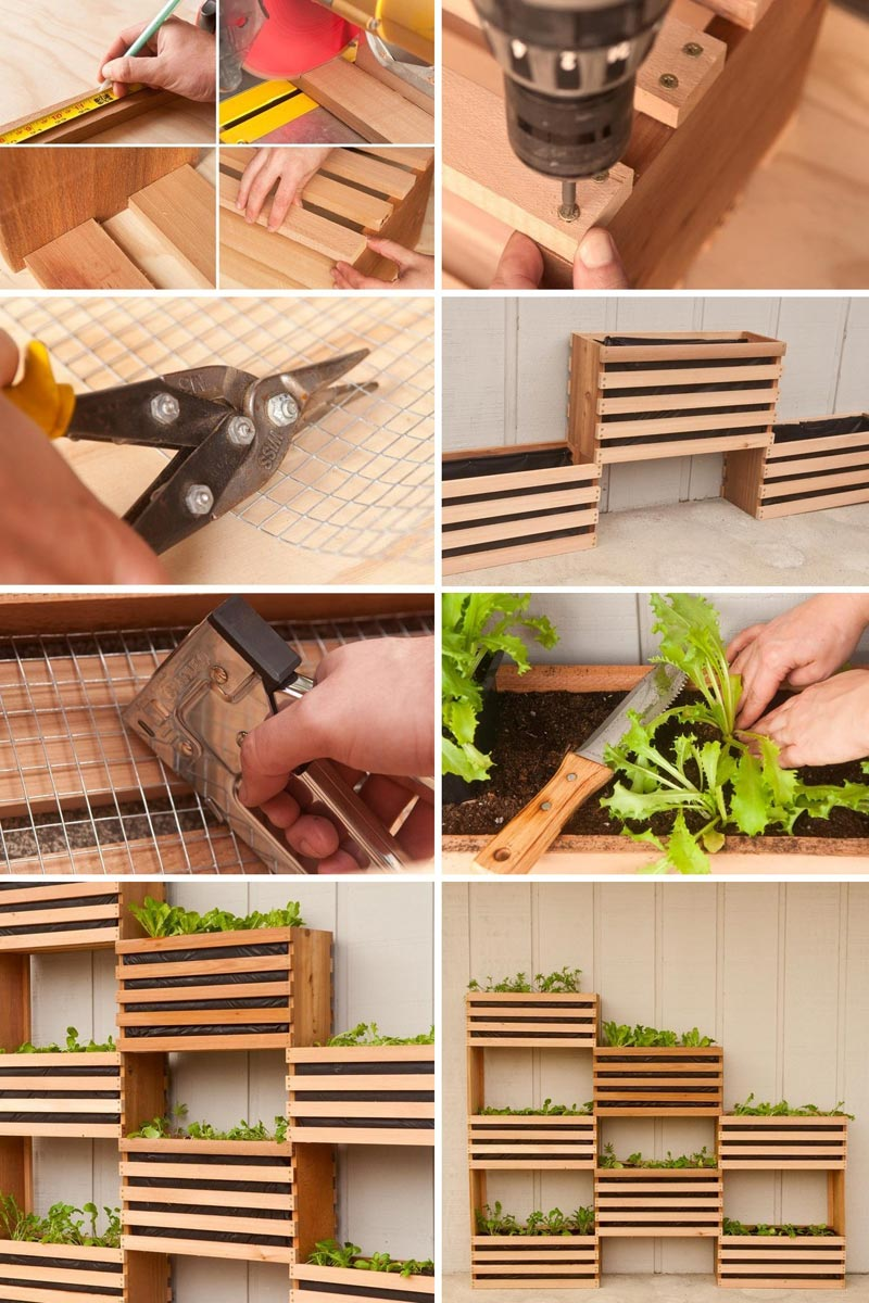 Craft Your Own Vertical Vegetable Garden