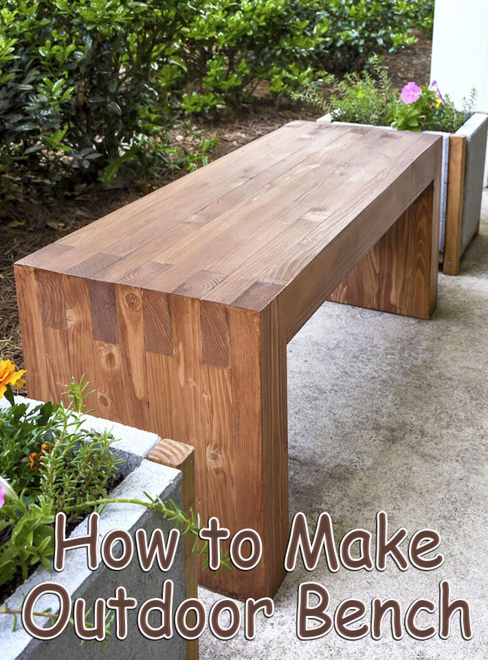 DIY - How to Make Outdoor Bench - Quiet Corner