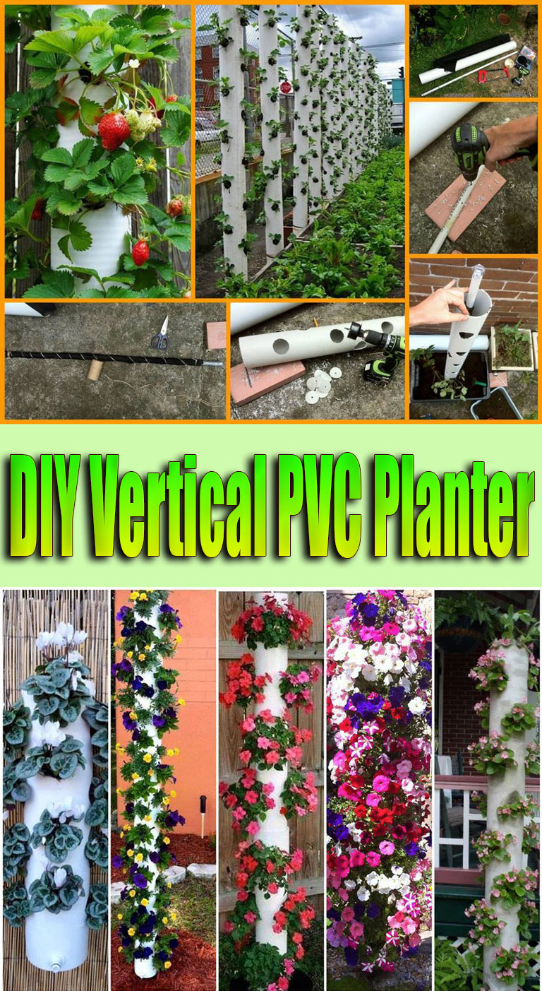 DIY Vertical PVC Planter