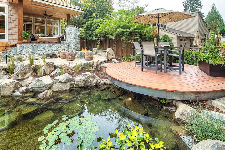 Inspiring backyard pond ideas quiet corner for Diy yard pond