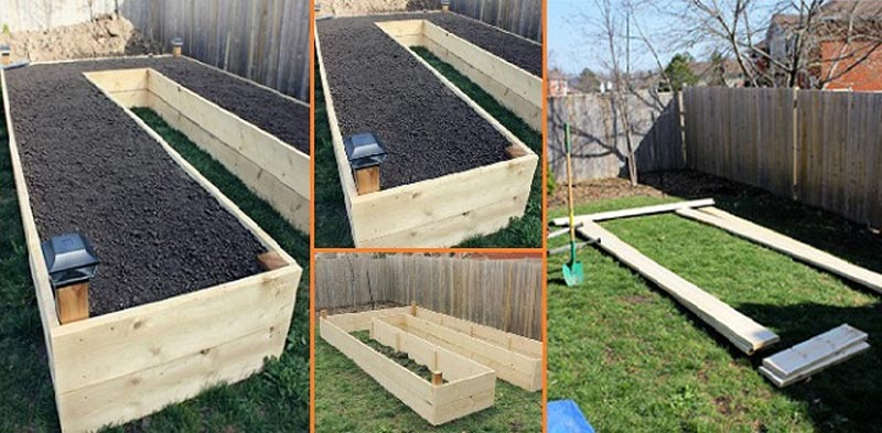How to build a u shaped raised garden bed quiet corner for Making raised garden beds