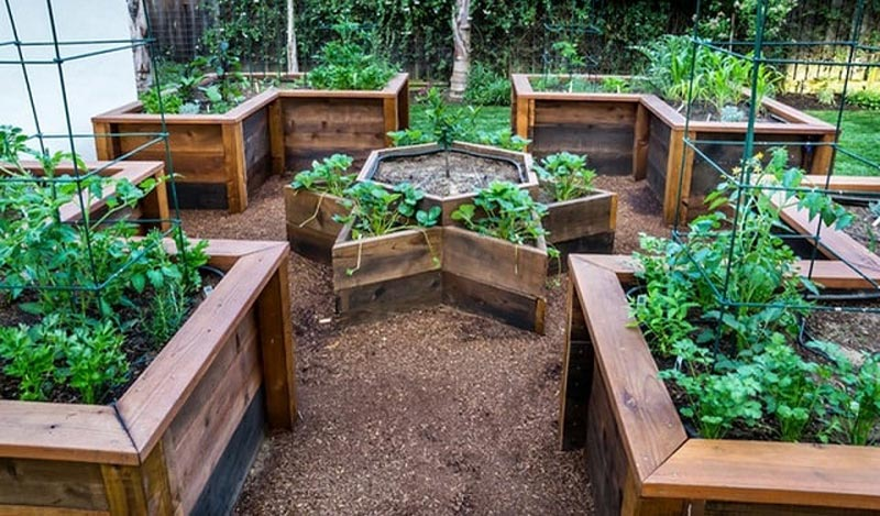 How to Build A U-Shaped Raised Garden Bed h (4)